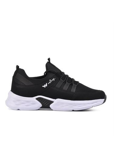 Walkway Montreal Siyah-Beyaz Erkek Spor Ayakkabı Siyah